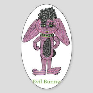 Evil Bunny Sticker (Oval)