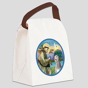 ORN-St Francis - Irish Wolfhound Canvas Lunch Bag