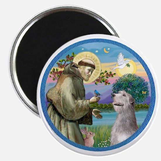 ORN-St Francis - Irish Wolfhound Magnet