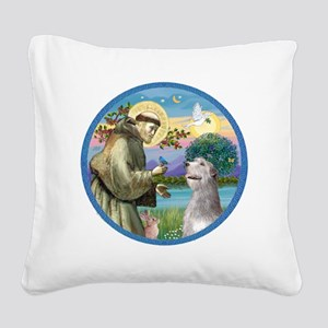 ORN-St Francis - Irish Wolfho Square Canvas Pillow