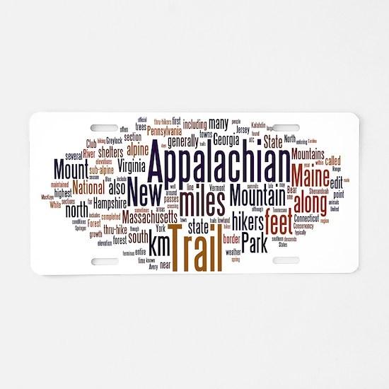 wordle appalachian trail 1 Aluminum License Plate