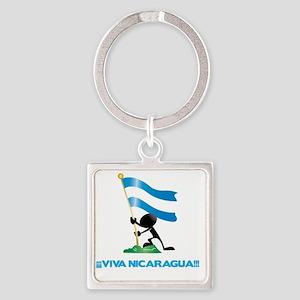 Nicaragua l Square Keychain