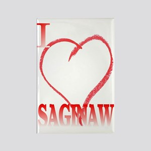 I LOVE SAGINAW. Rectangle Magnet