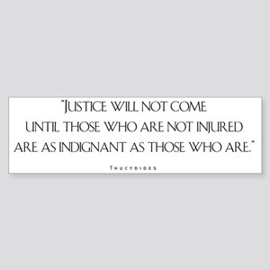 JusticeWillNotCome_Light Sticker (Bumper)