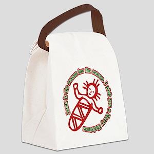 JesusIsTheReason_Dark Canvas Lunch Bag