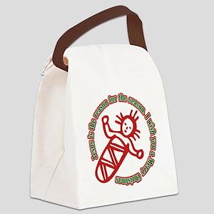 JesusIsTheReason_Light Canvas Lunch Bag