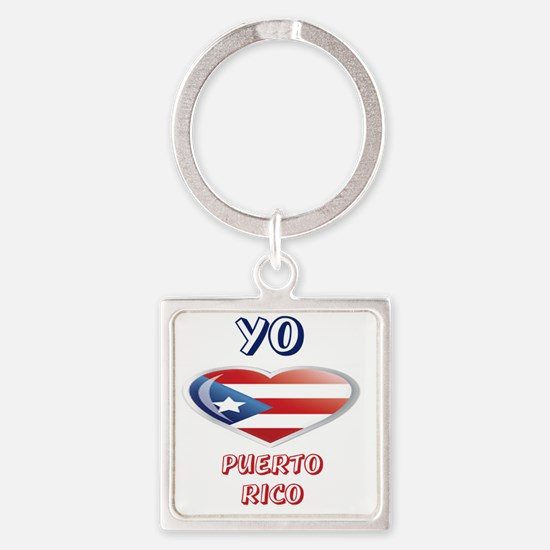 YO C PUERTORICO 0 Square Keychain