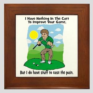 Angry golfer Framed Tile