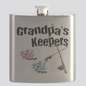 Grandpas Keepers fishing T-shirts and Gifts. Flask