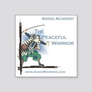 """The Peaceful Warrior Square Sticker 3"""" x 3"""""""