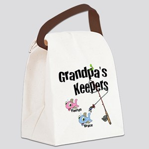 Grandpas Keepers fishing T-shirts Canvas Lunch Bag