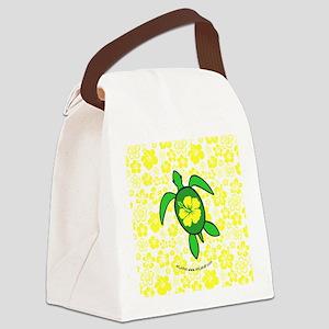 FlwrhawaiiTurtleBbt Canvas Lunch Bag