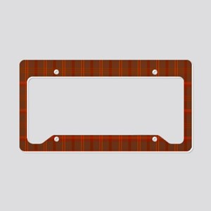 Rusty Plaid License Plate Holder