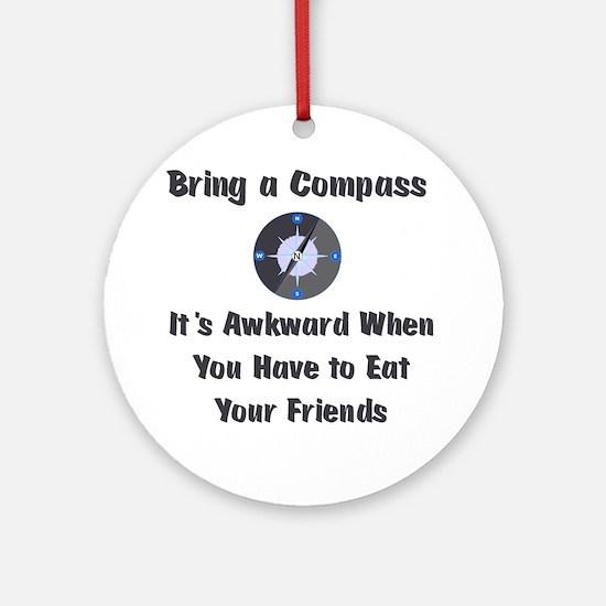 compass Round Ornament