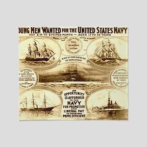 WW I circa 1908 navy Throw Blanket