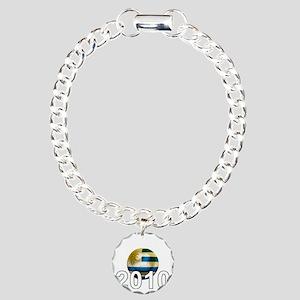 Uruguay World Cup3Bk Charm Bracelet, One Charm