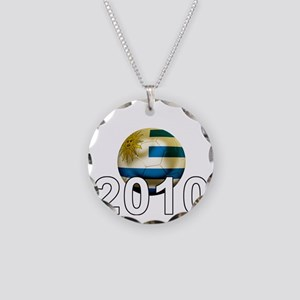 Uruguay World Cup3Bk Necklace Circle Charm