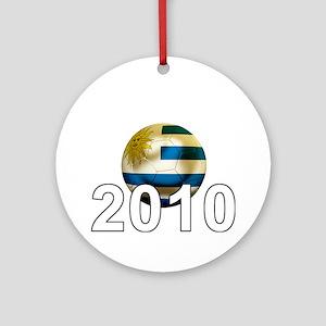 Uruguay World Cup3Bk Round Ornament