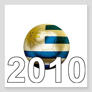 "Uruguay World Cup3Bk Square Car Magnet 3"" x 3"""