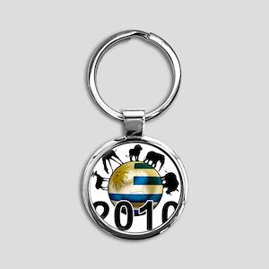 Uruguay World Cup3 Round Keychain