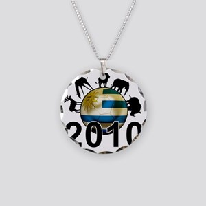Uruguay World Cup3 Necklace Circle Charm