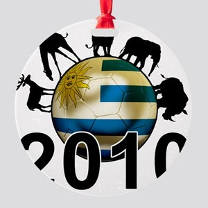 Uruguay World Cup3 Round Ornament