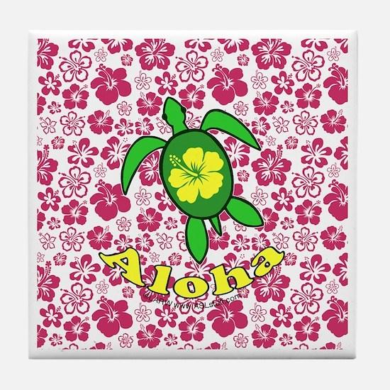 AlohahawaiiTurtleBbt Tile Coaster