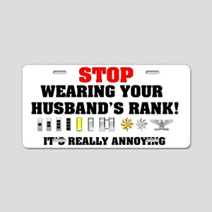 husbandrank2 Aluminum License Plate