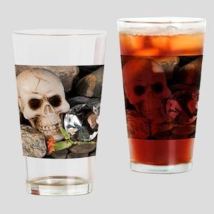 Skull and diamond Drinking Glass