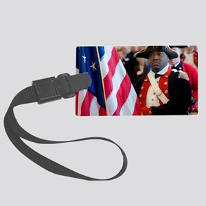 National Freedom Flag Print Large Luggage Tag