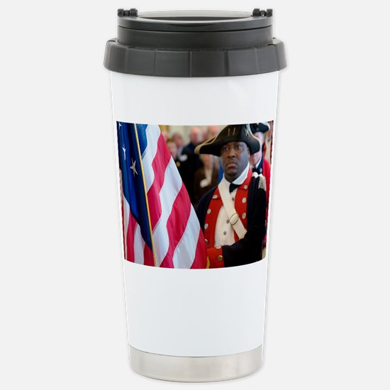 National Freedom Flag Print Stainless Steel Travel