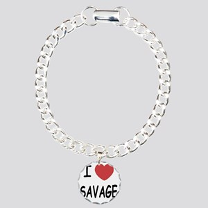 SAVAGE01 Charm Bracelet, One Charm