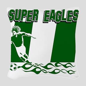 Super Eagles Woven Throw Pillow
