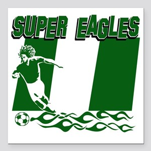 "Super Eagles Square Car Magnet 3"" x 3"""