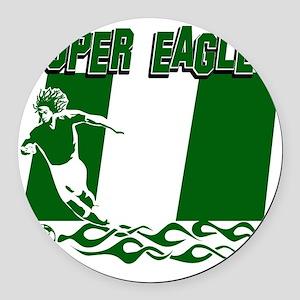 Super Eagles Round Car Magnet