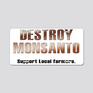 destroy_monsanto_white Aluminum License Plate