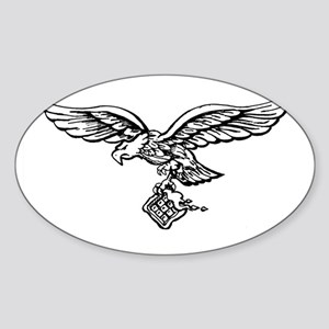 2-luftwaffleaglew Sticker (Oval)