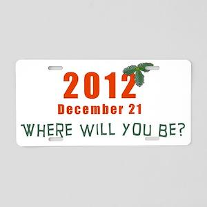 Where... Aluminum License Plate