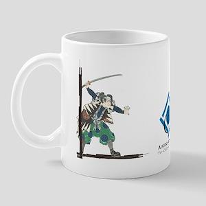 Peaceful Warrior and Caligraphy Long Mug