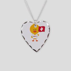 SoccerSwissChickDkT Necklace Heart Charm