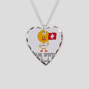 SoccerSwissChick Necklace Heart Charm