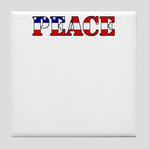 peace b52 dark Tile Coaster