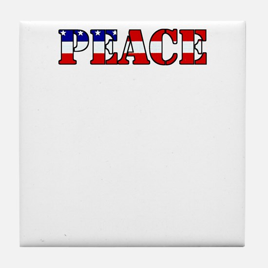 peace b52 dark Tile Coaster