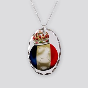 France World Cup7 Necklace Oval Charm