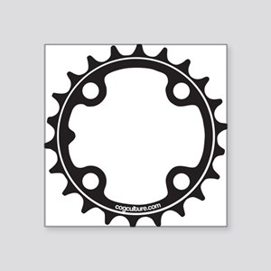 "ChainRing Square Sticker 3"" x 3"""