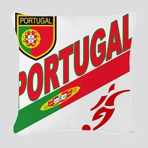 2-portugal a Woven Throw Pillow
