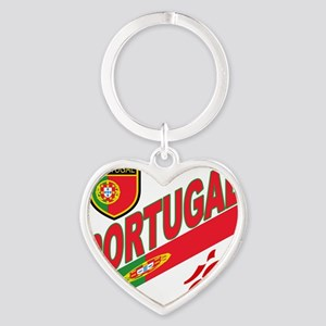 2-portugal a Heart Keychain