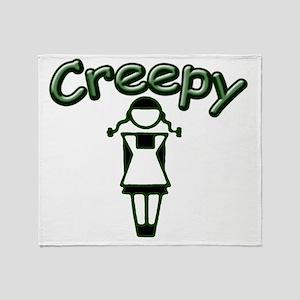 creepy_girl Throw Blanket