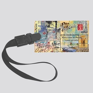 postcard1 Large Luggage Tag
