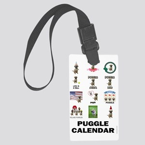 FIN-puggle-VERTCAL-cover Large Luggage Tag